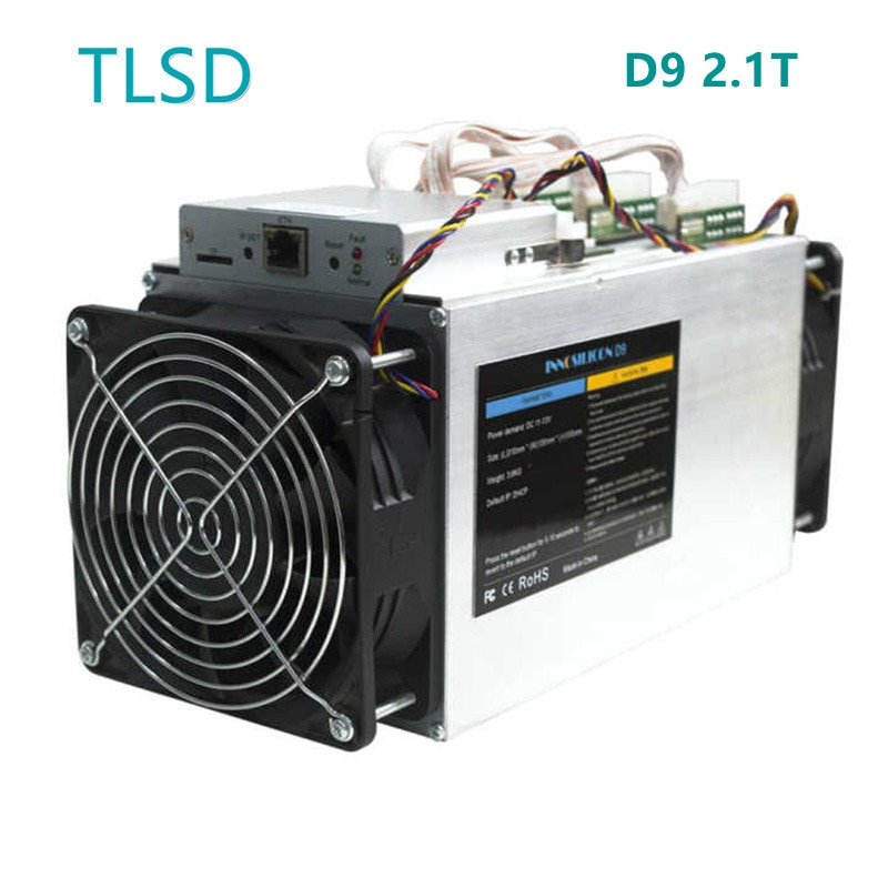 TLSD Used Innosilicon D9 2.1T Bitcoin Mining Machine with Power Supply