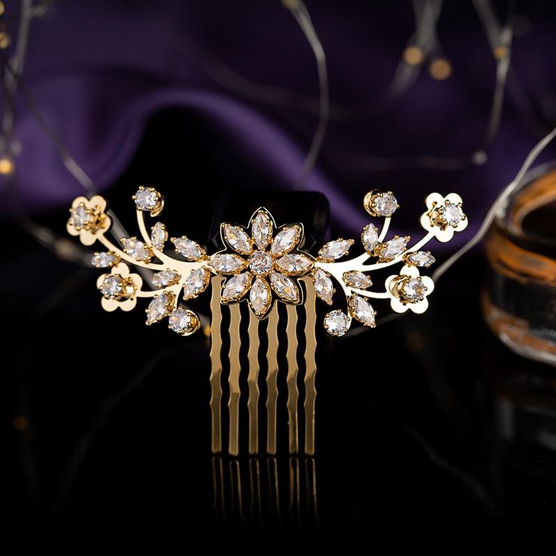 Tocado HADIYANA Simple Gorgeou romántica forma de flor mujeres accesorios para el cabello de boda diadema Zirconia BCY8939 Corona Princesa