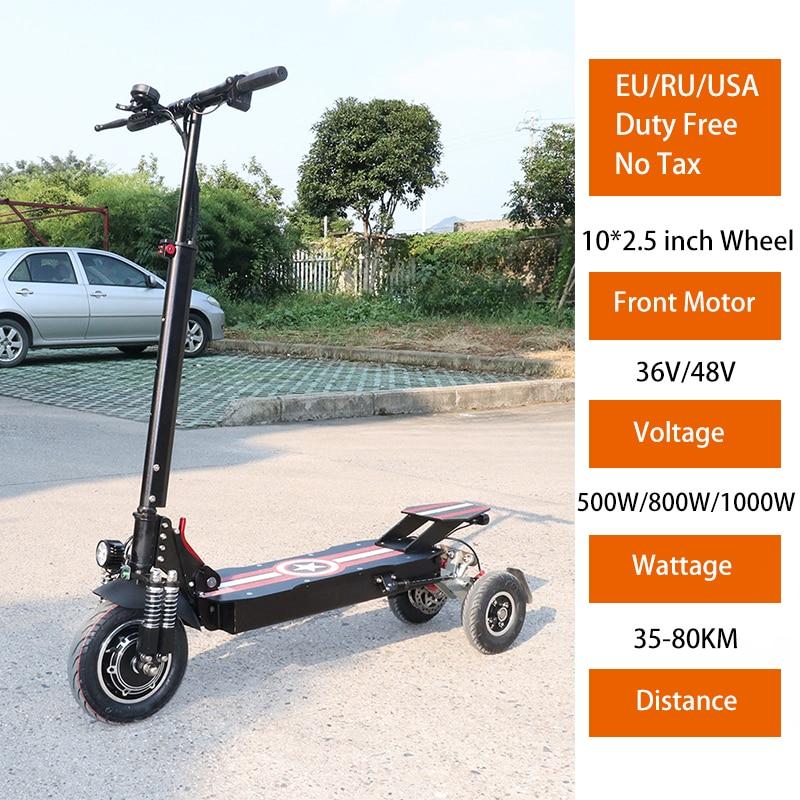 Patinete eléctrico plegable para adulto, Scooter de 36V, 48V, 500W/800W/1000W, con tres...