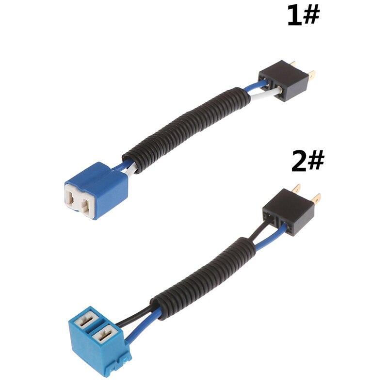 1 шт. Автомобильный держатель для фар H7, держатель для керамических ламп, автомобильный провод, галогенный адаптер, разъем для лампы