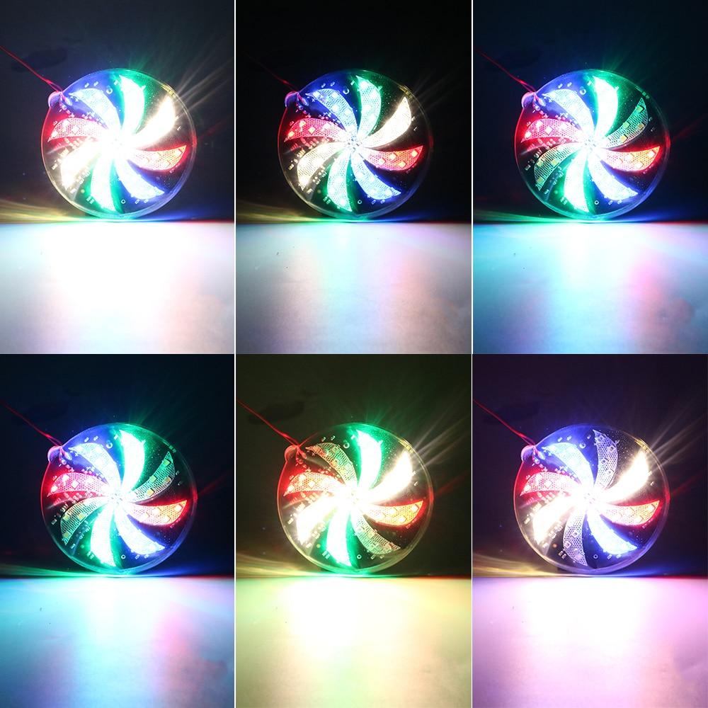 Modified Windmill Lights 12V Flash Lamp LED Strobe Light Car Styling Atmosphere Lamp 6/8/10cm Fire Wheel Lights Motorcycle Car