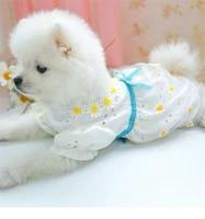 small dog dress spring summer pomeranian bichon yorkshire chihuahua bulldog princess teddy shihtzus puppy cat porous dress xs xl