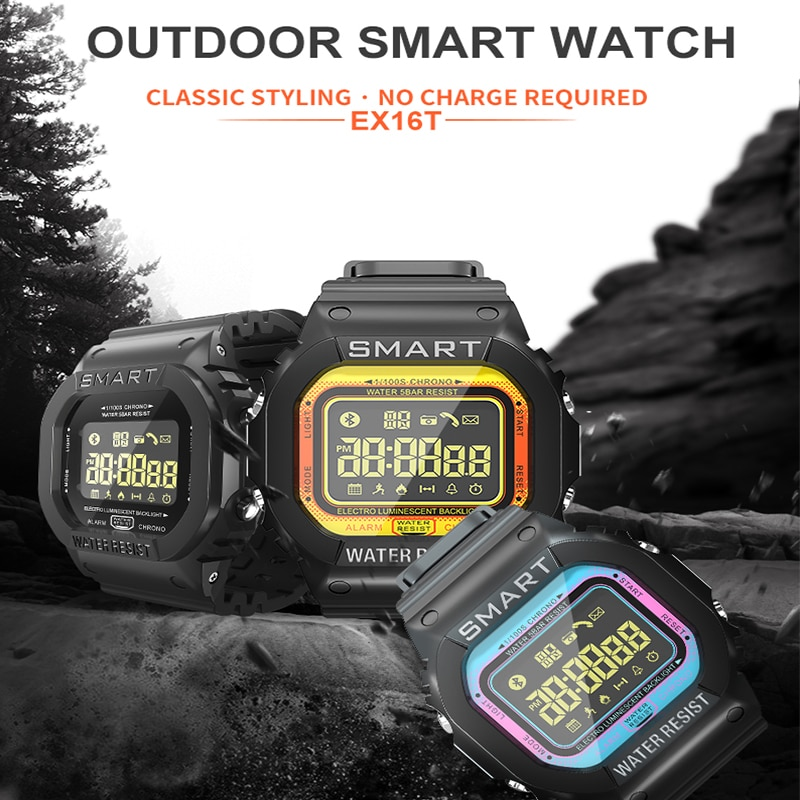 sports electronic watch 5ATM waterproof man's watches Noctilucent Speed Measurement  Alarm Clock Smartwatch for huawei samsung