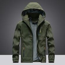 Fashion Hoodie Quick Drying Breathable Windbreaker Waterproof Jacket Hiking Sport Outdoor Coat Jacket Men Softshell Jacket Mujer