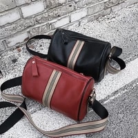 genuine leather shoulder bag for women classic black pillow pack french style messenger bag solid luxurious crossbody bag