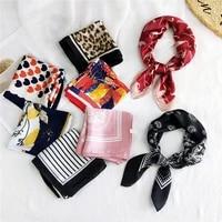 head neck hair tie band colorful headscarf diy hair scarf headband square scarf print neckerchief women scarf small silk scarves
