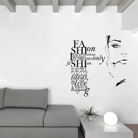 Mode fille autocollant mural filles chambre decoration Sexy sourcils amovible vinyle decalque Phrase Phrase decor a la maison ce qui est la mode