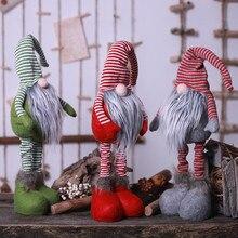 Weihnachten Lange Beinen Schwedisch Santa Plüsch Puppe Ornament Handmade Elf Spielzeug Urlaub Home Decor Kinder Geschenk Für Neue Jahr