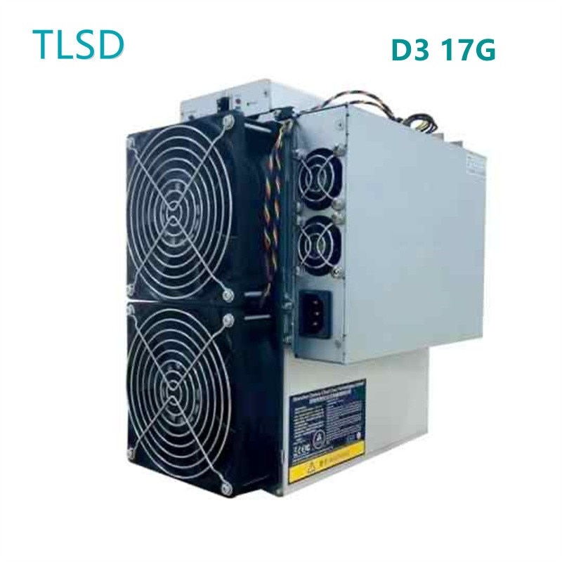 TLSD Used Antminer D3 17G Bitcoin Mining Machine with Power Supply