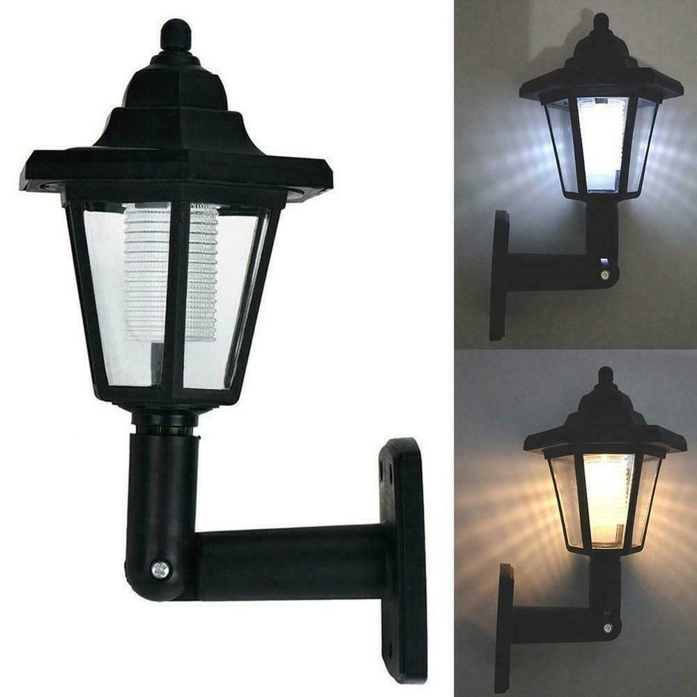 1 Pc Solar Power LED Light Path Way Wall Landscape Mount Garden Fence Lamp Solar Led Light Outdoor