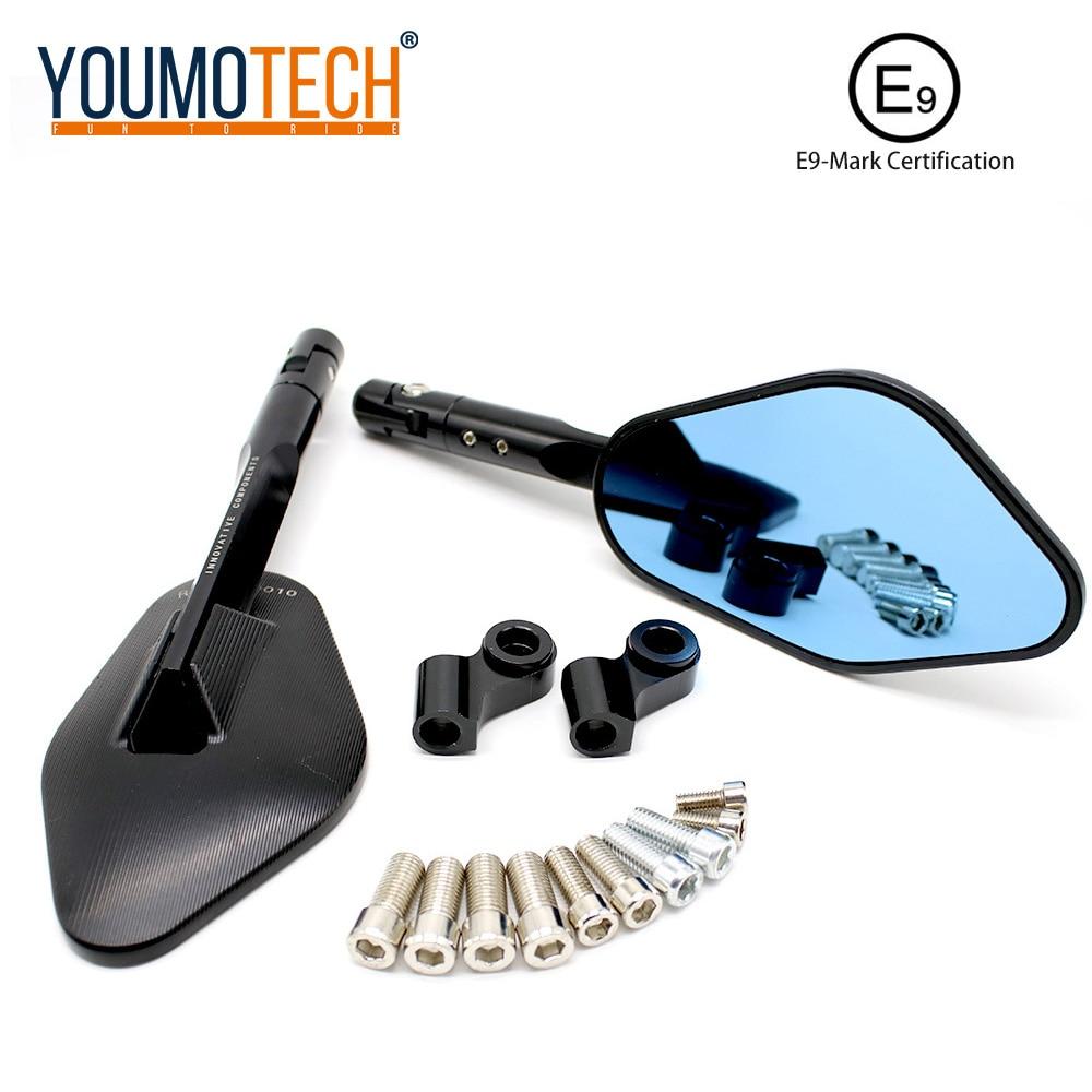 Espejo retrovisor CNC modificado para motocicleta Universal para yamaha fz8 nmax wr 250 mt03 mt09 kawasaki z250 z800 er4n