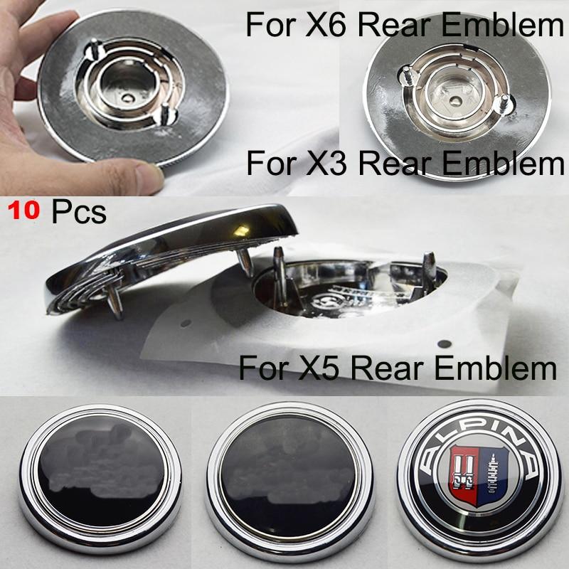 10 Uds. 15 tipo de emblema epoxi calcomanía cubre el emblema del maletero trasero del coche insignia de la bota trasera del coche para el accesorio del coche X5 X3 X6