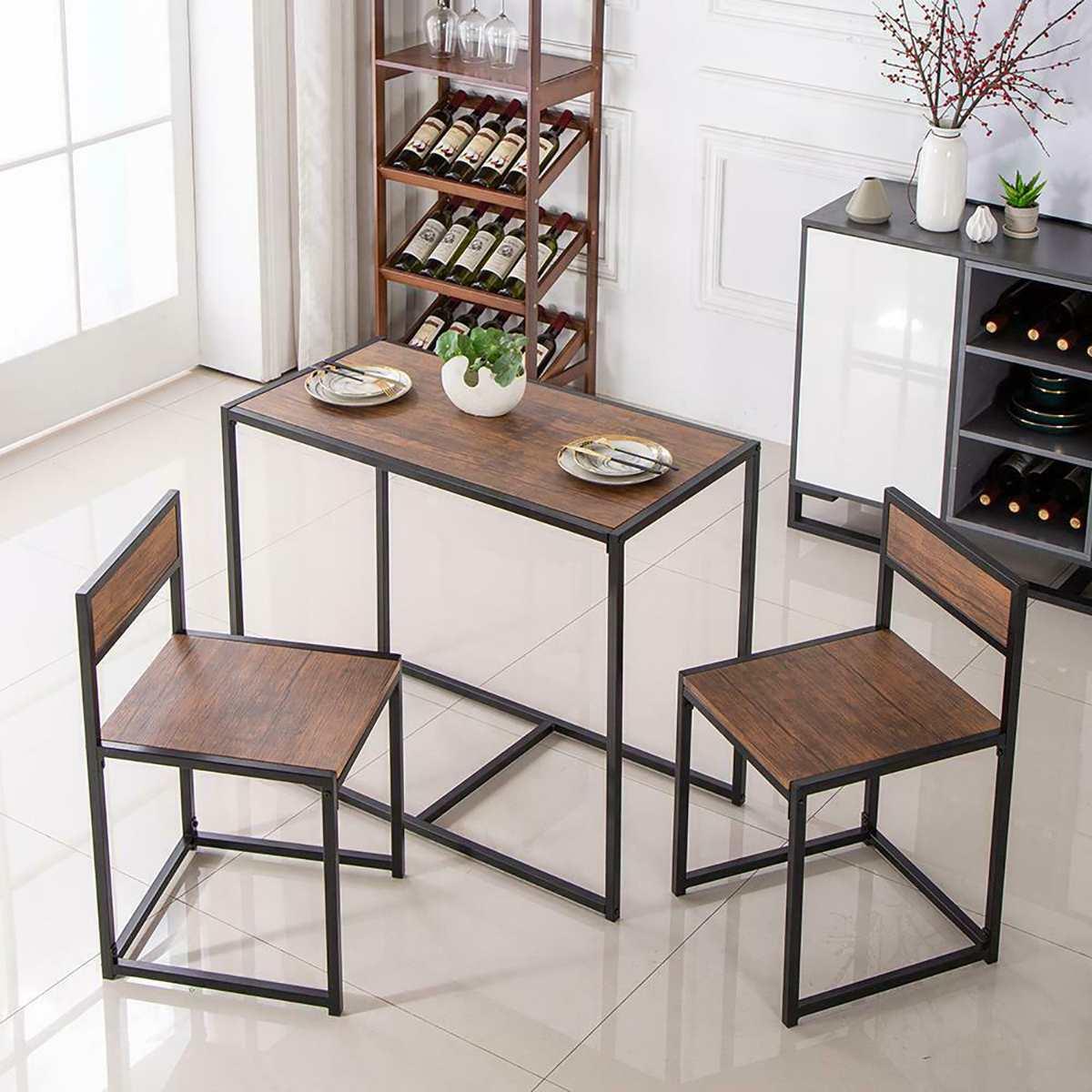 مجموعة منضدة عشاء 2 كراسي مجموعة منضدة عشاء الأثاث الحديثة طاولة من الخشب أثاث المطبخ الطعام مجموعة أثاث غرفة المعيشة