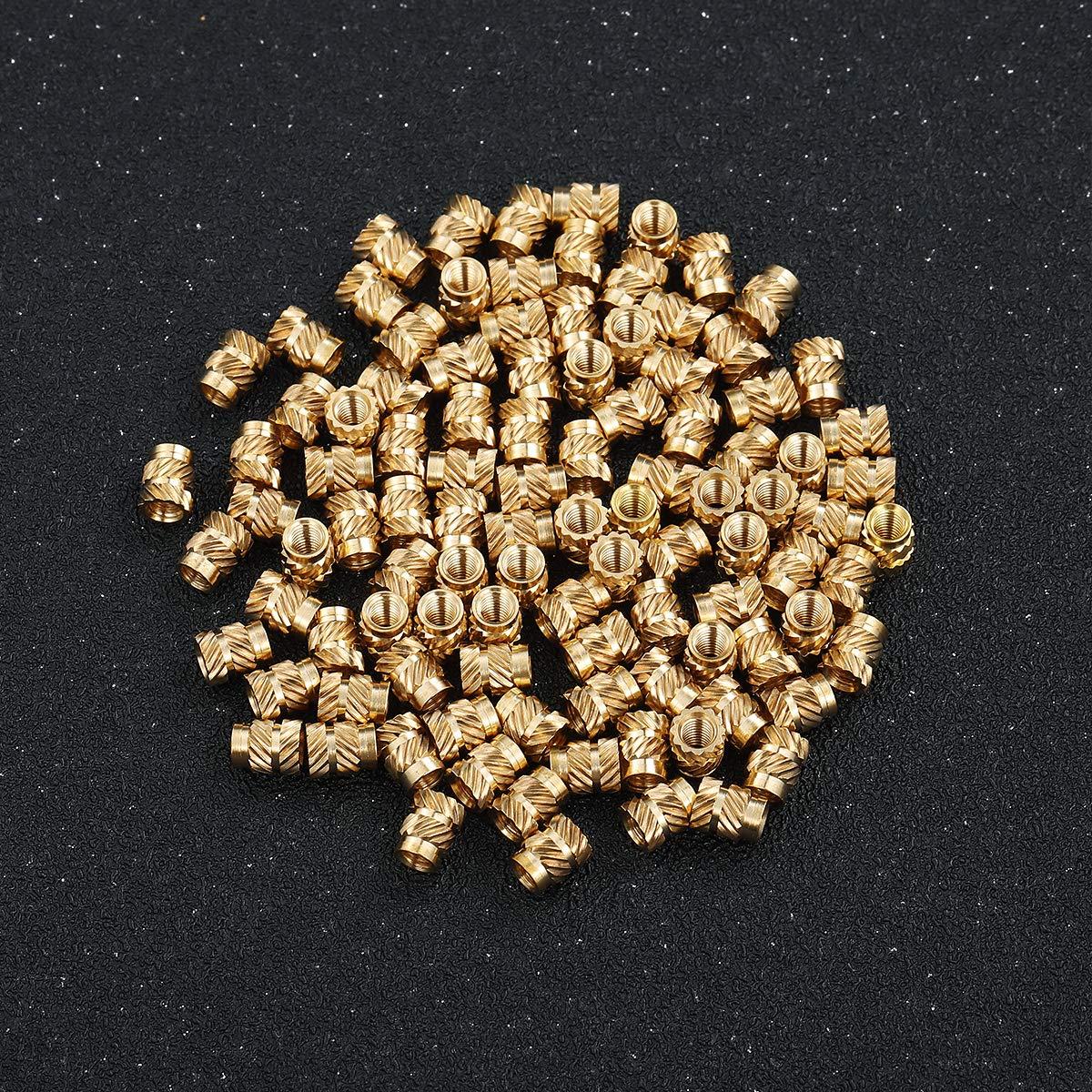AliExpress - 100pcs Brass Nuts Embedment Nut M3 Thread Brass Knurled Nuts Threaded Heat Set for Printing 3D Printer