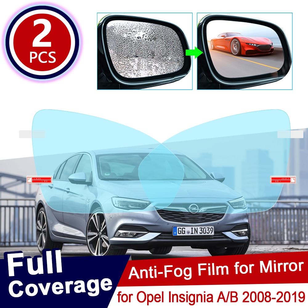 Para Opel Insignia A B 2008 ~ 2019, película completa Anti-Niebla, espejo retrovisor, impermeable, transparente, películas antiniebla, accesorios para coche 2012