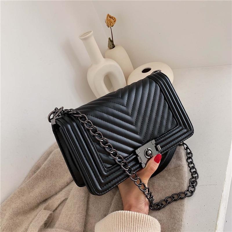 2021 Spring and Autumn New Letter Designer Luxury Handbags Brand Women Bags Fashion Chain Shoulder Crossbody Bag