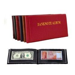 Лист 40 отверстий альбом для банкнот, бумажный сбор запасов денег