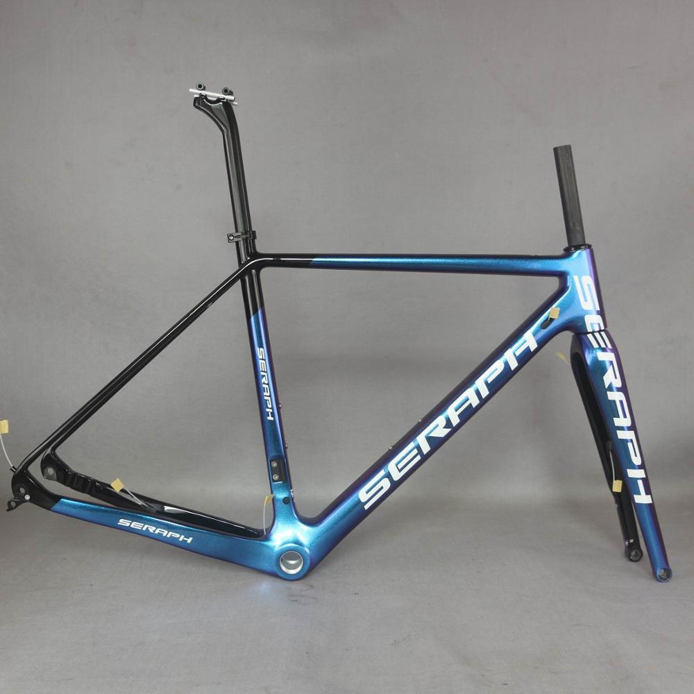 Camaleón Marco de bicicleta de grava de fibra de carbono GR029, marco de grava de bicicleta venta directa de fábrica marco pintura personalizada Marco de hombres