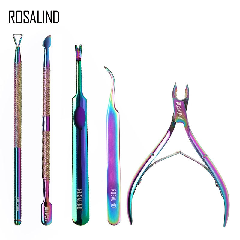 Rosalind Professional Manicure Tools Stainless Steel Dead Skin Scissors Nail Remover Rubbing Acrylic