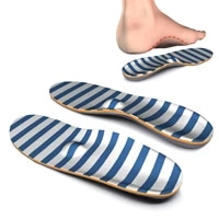 blue stripe memory foam high arch support insole flat feet foot orthopedic insoles for men and women metatarsal sufferer