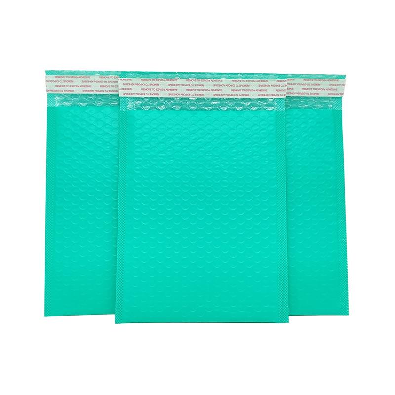50 Pcs Shockproof packaging bubble logistics bag green squeeze foam wholesale matte co-extrusion film buffer bag envelope