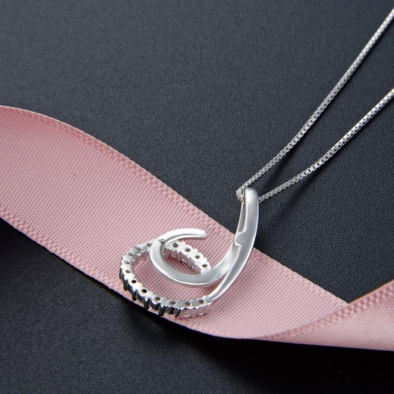 Sterling Silver Tassel Pendant for Women White Gold Cover Jewelry Wedding Gift S925 CHD001446