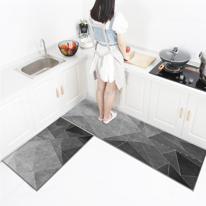 Tapis-alfombras antideslizantes para salón De cocina, Tapetes absorbentes De agua y aceite...