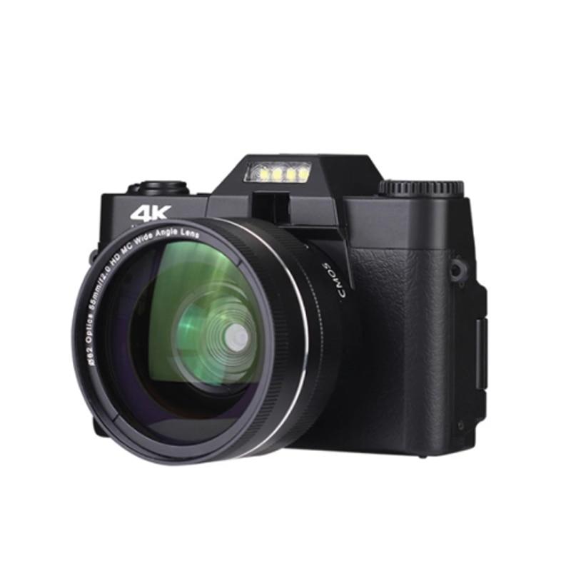 New HD 4K 16X digital camera mirrorless retro with WiFi professional digital camera Vlog external lens family travel camera