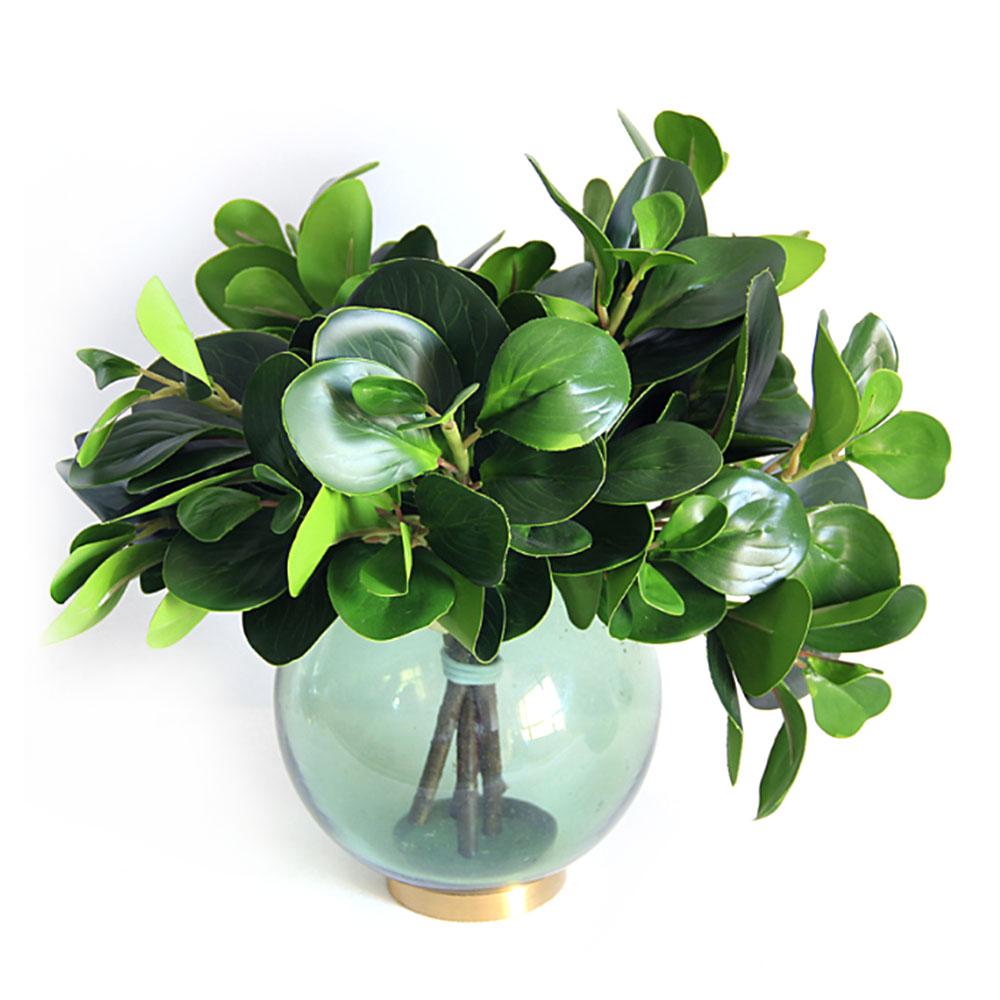 Folhas de feijão artificial simulação planta verde casa cozinha festa de casamento decoração falso flor pano de seda 32*27cm novo m5
