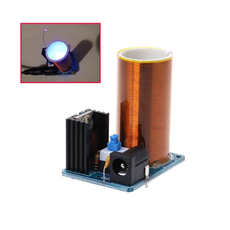 9-12V BD243 Mini bobina de Tesla Kit de electrónica DIY piezas de transmisión inalámbrica DIY placa 10166