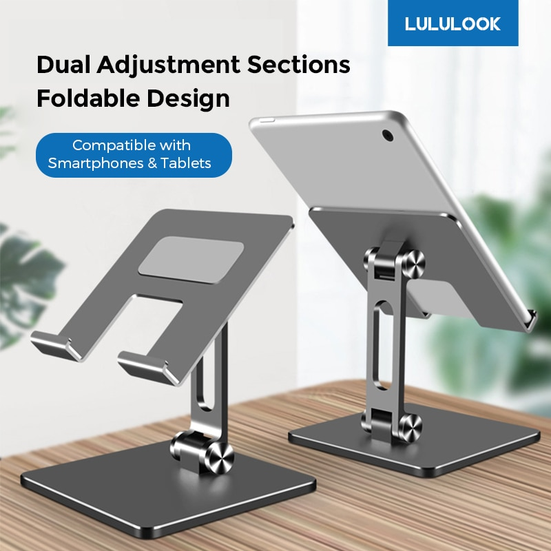 Tablet Stand For Xiaomi Samsung iPad Pro 12.9 11 Air Mini Huawei Universal Stand Foldable Adjustable Tablet Bracket Phone Holder