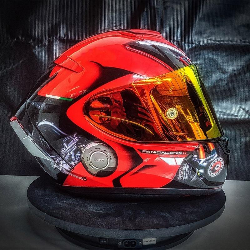 خوذة موضة جديدة ماركة SHOEI X14 خوذة باللون الأحمر مقاس X-أربعة عشر خوذة لسباقات الدراجات النارية تغطي الوجه بالكامل خوذة كاسكو دي موتوسيكل