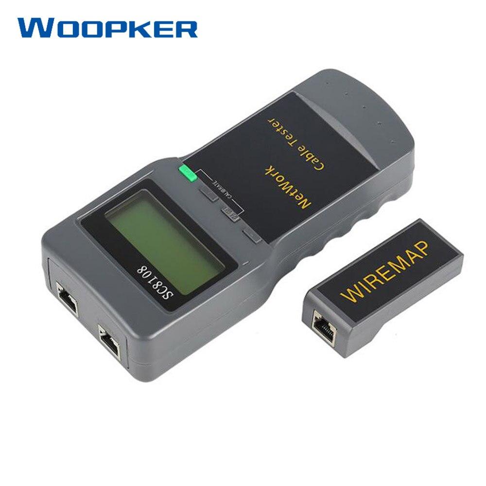 Portátil multifunción inalámbrico Sc8108 LCD Digital PC datos CAT5 RJ45 LAN teléfono medidor Tester de Cable de red