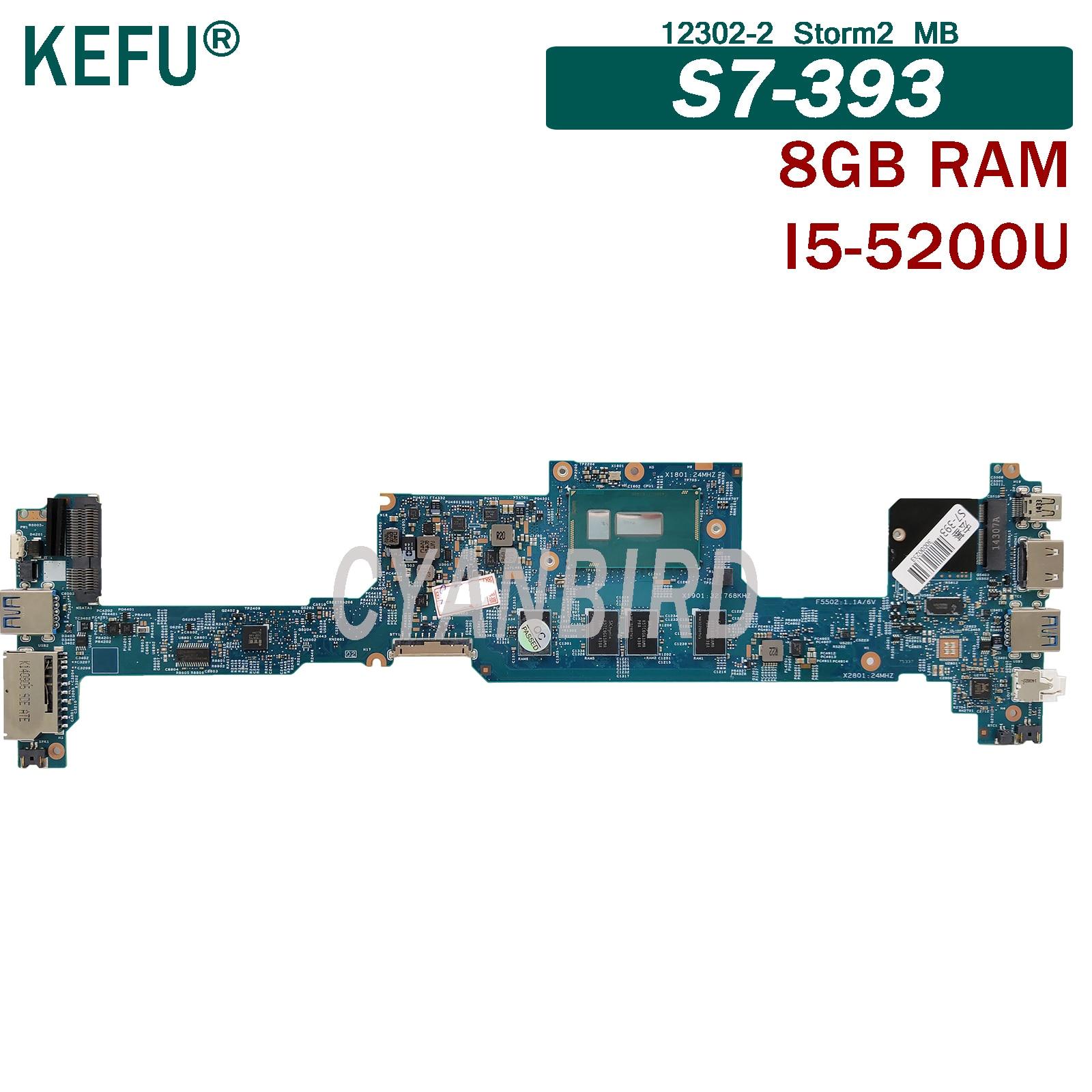 KEFU 12302-2 Storm2 MB placa madre original para Acer S7-393 con DDR3L...