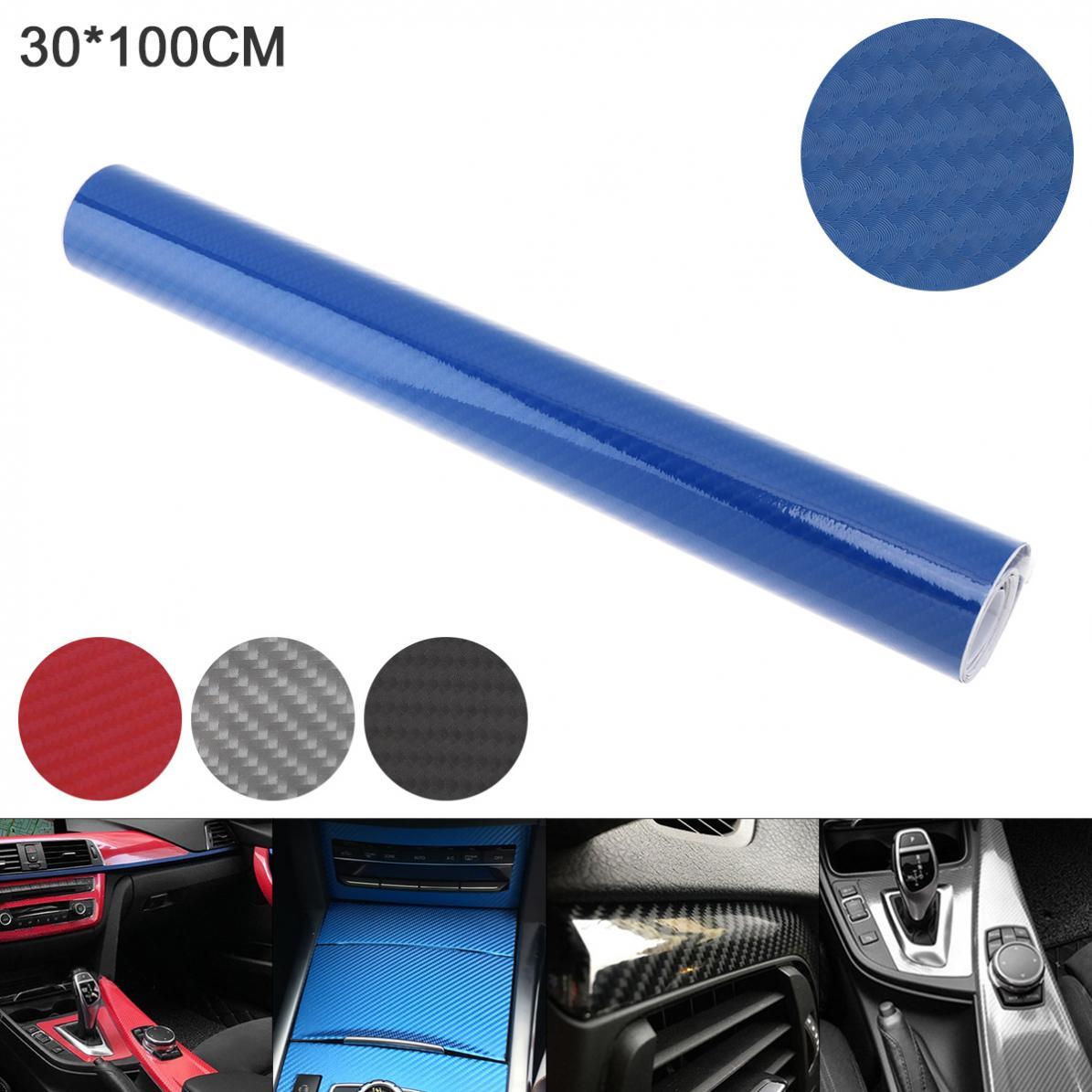 4 colores, 30x100cm, PVC, fibra de carbono 6D, pegatina de reembalaje de alto brillo para automóvil, apto para coche, motocicleta, producto electrónico, hogar