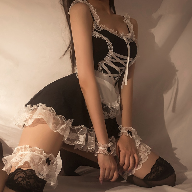 Lolita Hot Costume Babydoll Dress Uniform  Role Play Cute Live Show Women  Lingerie Cosplay Costumes Maid Servant