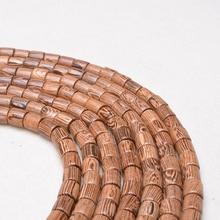 500 pcs Natural Wenge Wood Beads For Jewelry Making Handmade Fine Polishing DIY Personality Bracelet