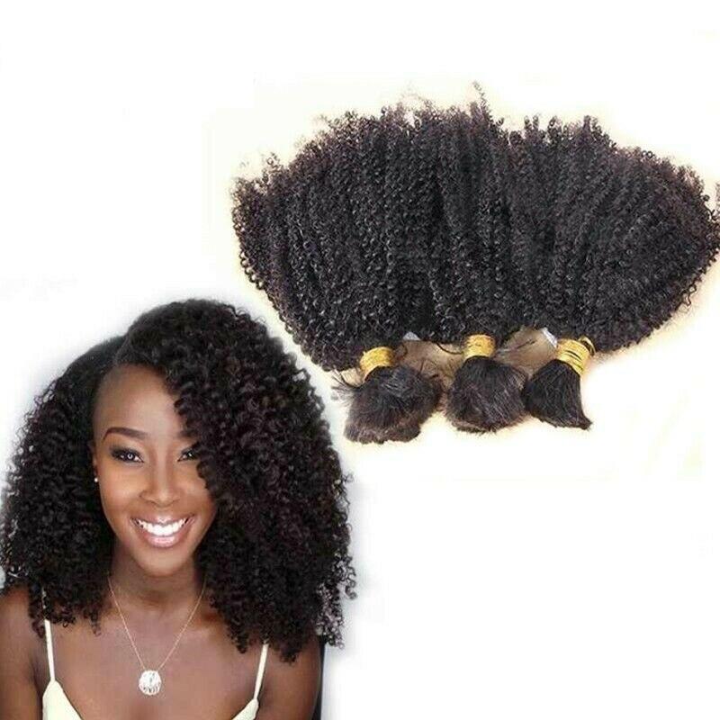 Афро кудрявые вьющиеся человеческие волосы оптом для плетения монгольских неповрежденных волос без уточка 3 пряди небольшие кудрявые воло...