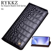 genuine leather flip case for xiaomi redmi k30 cover magnetic case for redmi k30 pro 5g cases leather cover phone cases fundas