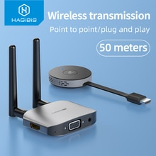 Hagibis Wireless HDMI-compatible Video Transmitter & Receiver Extender Display Adapter Dongle for TV
