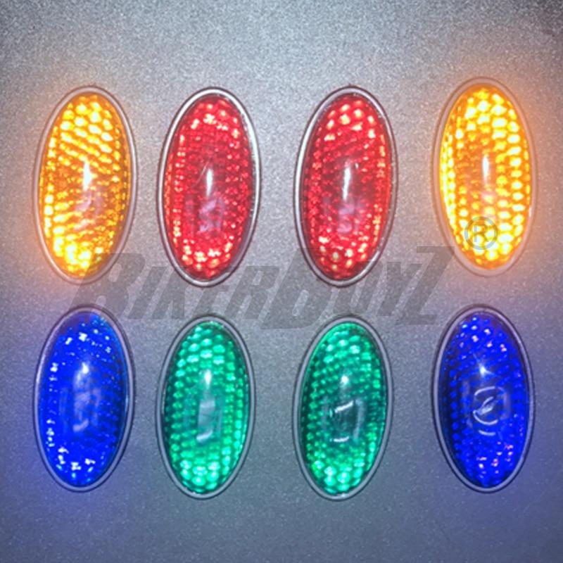 1 piezas de plástico Reflector pegatina reflectante de seguridad signo rojo amarillo verde azul para motocicletas coche camión