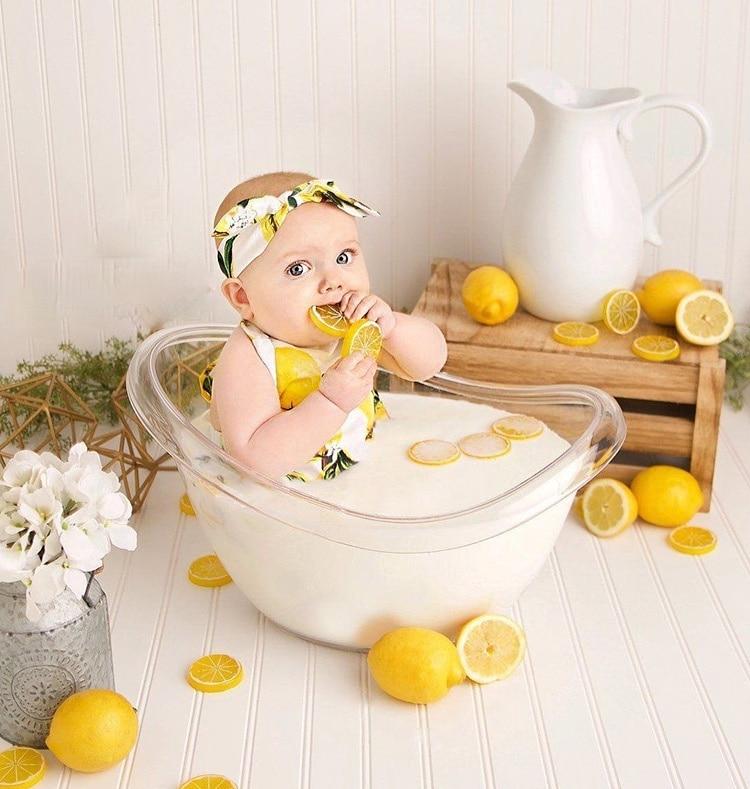 2021 Newborn Photography Props Transparent Bathtub Bucket Posing Baby Photo Prop Furniture Boy Girl Boy Fotografie Accessoires