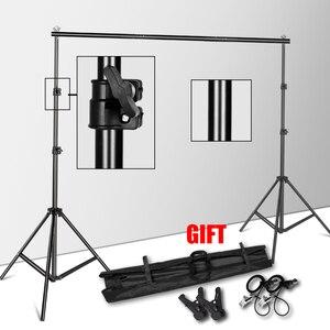 Подставка для фона с системой поддержки для фотостудии, держатель для фона с сумкой для переноски муслиновых фонов, бумаги и холста