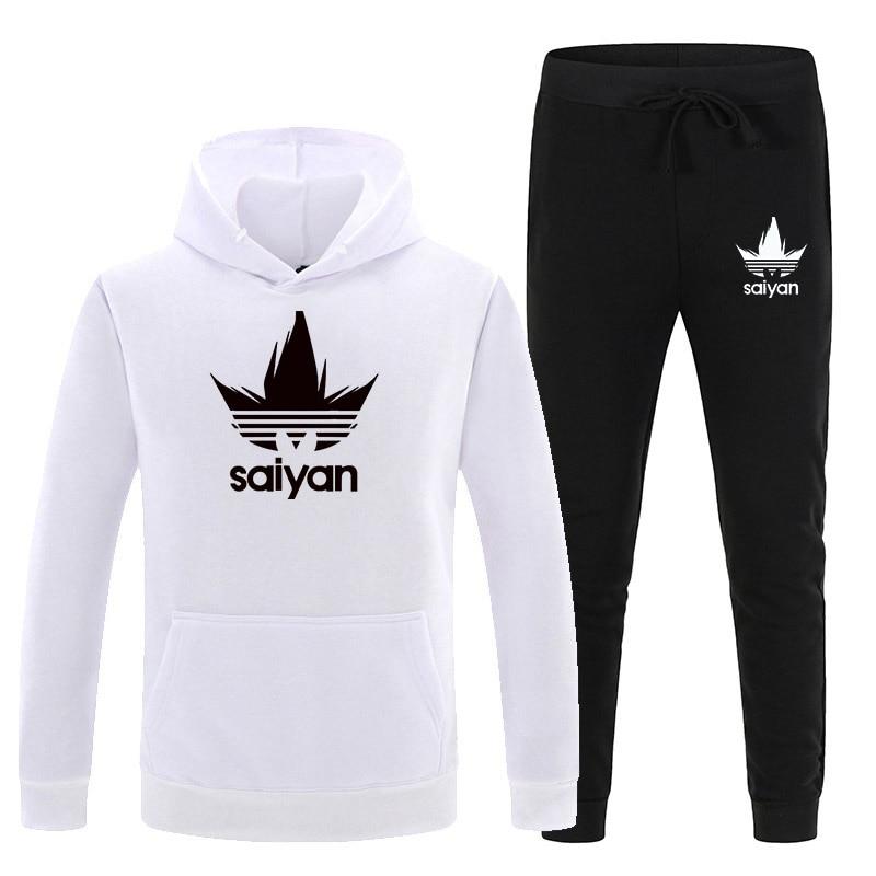 Мужские комплекты SAIYAN, Прямая поставка, толстовки и штаны в стиле Харадзюку, оптовая продажа, спортивные костюмы, повседневные свитшоты, спо...