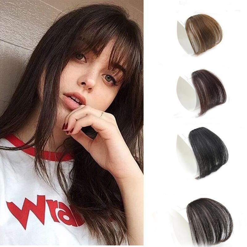 MERISI HAIR 4Color Clip In Hair Bangs Hairpiece Synthetic Fake Bangs Hair Piece Clip In Hair Extensi
