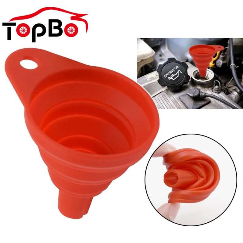 Foldable Auto Car Mini Engine Funnel Silicone Gasoline Oil Fuel Petrol Funnel Liquid Washer Fluid Change Fill Transfer Tools