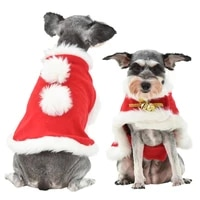 christmas dog cloak funny dog cat costume puppy kitten new year warm clothing pet winter disguise clothes photo props accessory