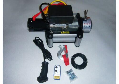 Wotefusi 12000LB treuil de récupération électrique universel DC12V/24V câble en acier remorquage
