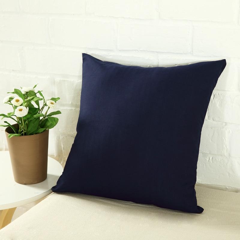 Чехол для подушки ярких цветов, простой однотонный чехол для диванной подушки, черно-белый декоративный чехол для подушки, чехол для автомо... чехол
