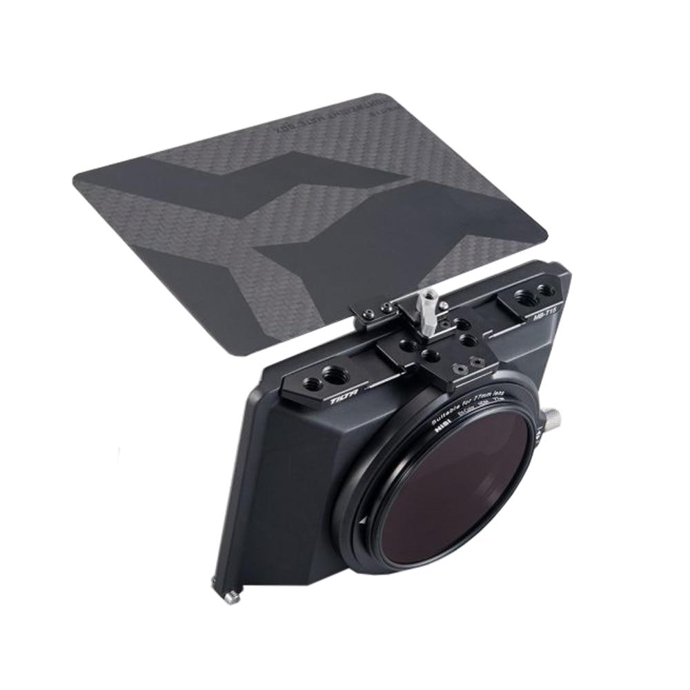 Tilta MB-T15 4*5.65 صندوق غير لامع ألياف الكربون ل DSLR مرآة نمط كاميرات Tilta عدسة هود اكسسوارات BMPCC 4K 6K قفص